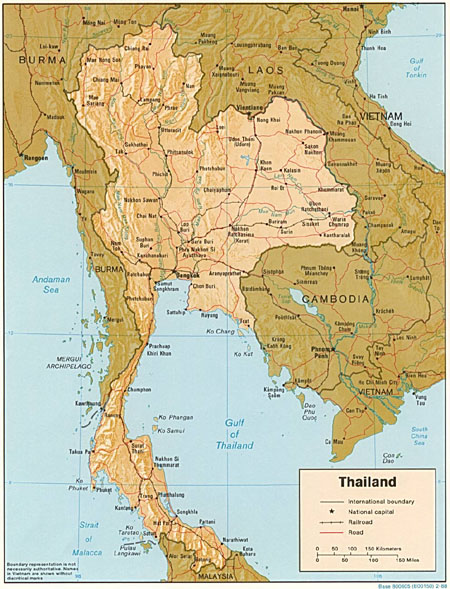 A map of Thailand